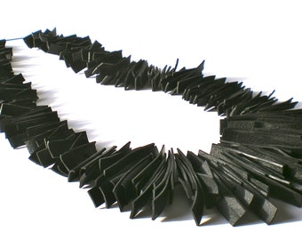 Necklace long rubber inner tube, BLADE RUBBER STREAK color Black