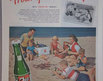 Orignal 1951 7up Seven-Up Magazine Ad