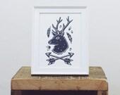 Wilderness Deer Mini Print