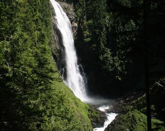Waterfall photograph or canvas print, 5x7, 8x10, 11x14, 16x20, Wallace Falls, Wallace Falls State Park, WA state