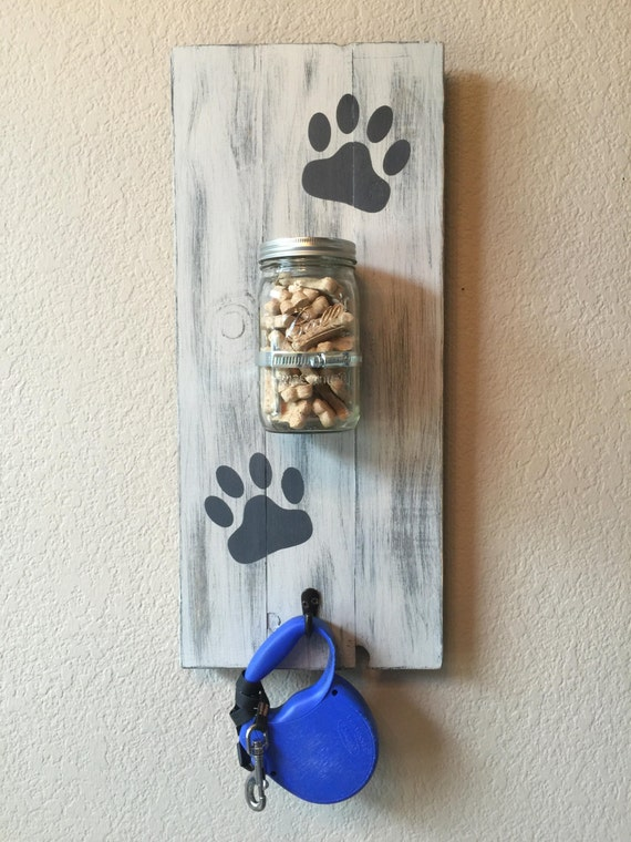 Large dog treat holder dog leash holder dog by for Dog related home decor