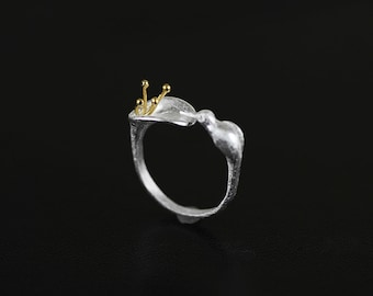 HOT SALE Hummingbird Ring Stamens Flower Charm Gold-filled Sterling Silver Open Ring Adjustable Ring Dainty Women Ring