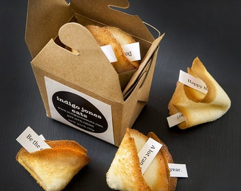 Make a statement with handmade fortune cookies with customized messages inside.