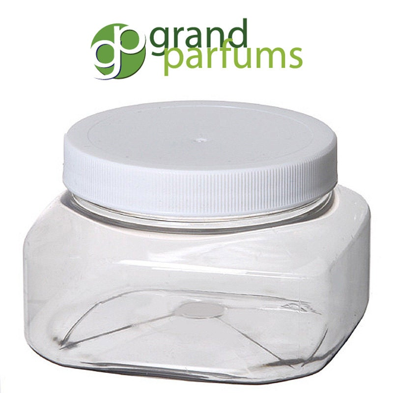 8 oz empty plastic cosmetic containers clear pet jars for Custom cosmetic jars
