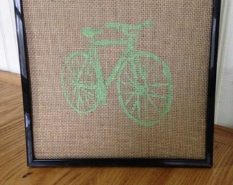 mountain bike framed art