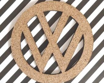 VW Coasters Lasercut from Cork