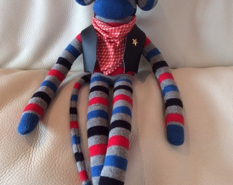 Character Sock Monkey - Wyatt the Cowboy