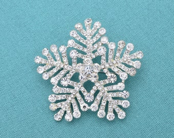 Snowflake Bridal Rhinestone Crystal Brooch Wedding Accessories Bridal Snowflake Brooch Pin Rhinestone Brooch