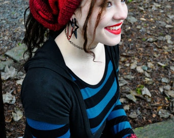 Cherry Shape-Shifter: Dread Beanie Hat Scarf