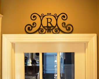 Personalized Wall Decoration, Door Topper, Custom Monogramed Art