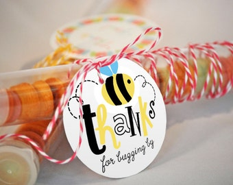 ON SALE! Bumble Bee Favor Tag, What Will It Bee Favors, Bee Tags, Bumble Bee Party Favors, Honey Bee Party, Bumble Bee Party Printables