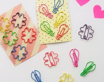 Shaped Paper Clips (Set of 5)