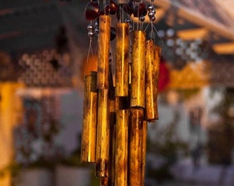 Hand Made Wind Chime | Hand Made Wind Chime with seashells, beads and reed made by Natan Levy