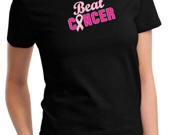 Breast Cancer Awareness Ladies Shirt Beat Cancer Tee T-Shirt BEAT-LPC61