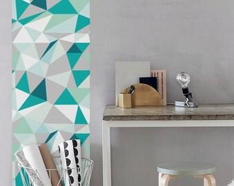 Kaleidoscope Wallpaper / Simple Removable Wallpaper / Geometric Nursery Wall Mural / Geometric Wallpaper - CM029