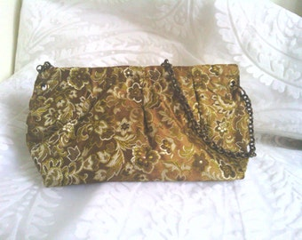 Green Brocade bag