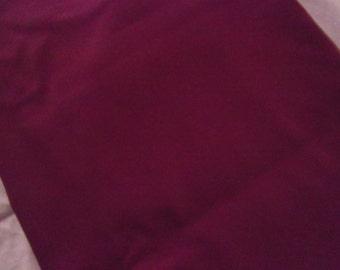 4 Yds. - Maroon Sateen Fabric, 4 yards total, early 90's, solid maroon, sateen, vintage fabric