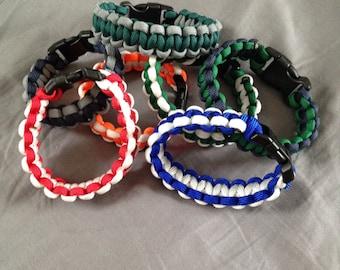Two-toned Paracord Bracelets