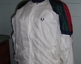 Vintage Fred Perry Windbreaker, Oi, Tennis,  Large