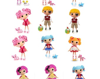 lalaloopsy  cupcake/cookie edible toppers