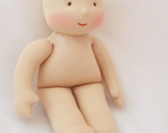 "Waldorf doll 11"" (28cm) without hair - newborn baby doll"