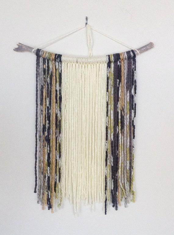 Items Similar To Yarn Wall Hanging Stick Decor Wall