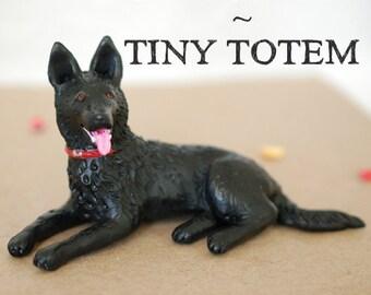 Custom Pet Sculpture Polymer Clay Dog Or Cat Portrait Figurine