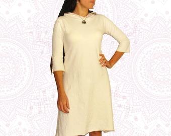 Organic clothing -  Organic Cotton and Hemp Custom Made Hooded dress