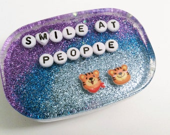 MADE TO ORDER - Unusual Bathroom Decor: Smile at People, Art for Your Shower, Bathroom Decor, Weird Art