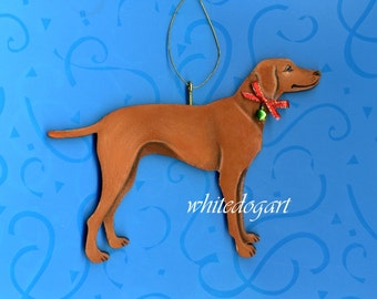 Handpainted Vizsla Christmas Ornament