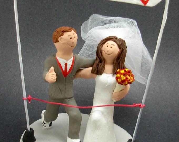 Marathon Runner's Wedding Cake Topper, Joggers Wedding Cake Topper, Athletes Wedding Cake Topper, Joggers Wedding CakeTopper,Jogging  Statue