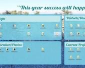 Desktop organizer, digital desktop organizer, desktop background, desktop wallpaper, desktop, new years resolution, organizing, #147