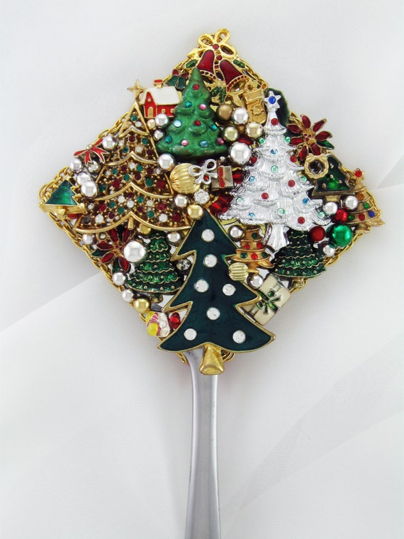 Hand Mirror Oh Christmas Tree Oh Christmas by MarilyndaGallery