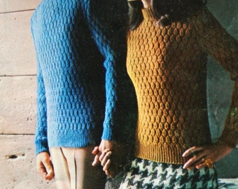 Sweater Knitting Patterns Cardigan Travel Knits Lady Galt 41 Men Women Vest Tam Skirt Hat His Hers Paper Original NOT a PDF