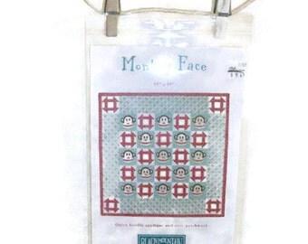 NIP Monkey Face Design Quilting Pattern   Sock Monkey Face Blocks