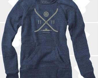Elements of a Skateboard - Women's Slouchy Sweatshirt