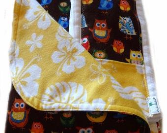 Newborn Gift Set - Woodland Friends Aloha Receiving Blanket/Burp Cloths