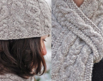 Knitting Pattern For Pull Through Scarf : Pull through scarf Etsy