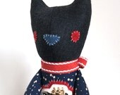 Eldrich the Cat / Soft Doll / Stuffed Animal / Cat Plush / Art Doll / Toy / Handmade Softie