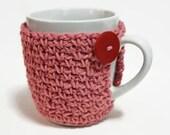 Mug Cozy Cup Sleeve Crochet Coffee Cup Cozy  Novelty Stocking Stuffer Teacher Gift