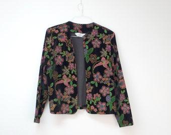 Blair Boutique . vintage open front light jacket . medium to large