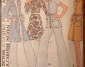 1970s Shirtwaist Dress, Top, Pants Pattern- Vintage McCall's 3482