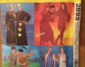 Costume Pattern Adult Size  - Roman Couple, Cave people, King & Queen of Hearts and Devilish pair -  McCall's 2895 - All Adult Sizes
