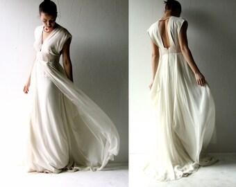 Wedding dress, Boho wedding dress, Bohemian wedding, Blush wedding dress, low back dress, Alternative wedding dress, medieval wedding dress
