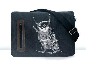 Samurai Owl  messenger bag