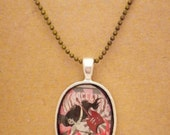 Marceline Vampire Queen Adventure Time recycled comic book pendant