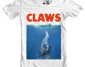 Mens CLAWS Tee, Sloth Shirt, Funny t shirts, Men's Animal, T-shirt, Sloths Tees, Jaws Movie Gift for guys, Available S-2XL
