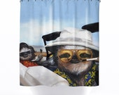 Sloth Vegas, Funny Sloth, Las Vegas, Shower Curtain, Printed in USA