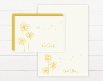 BREEZE Personalized Stationery + Notepad Set, Personalized Notepad and Personalized Stationary
