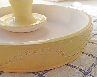 Yellow Large Mortar and Pestle -With Stars